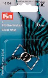 PRYM Bikini- und Gürtelverschluss MET 15 mm silberfarbig