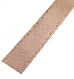 Kunstleder Taschengurt Gurtband 25mm beige