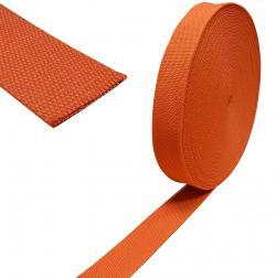 Baumwoll Taschengurt Gurtband 38mm orange