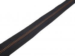 Metall Altkupfer *SCHWARZ* endlos Reißverschluss Meterware