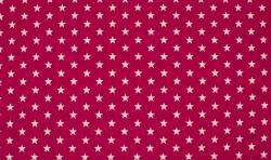 Baumwoll Jersey Stoff / Sterne pink - weiss