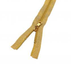Exclusiv Spiral Kunststoff Reißverschluss teilbar Gold