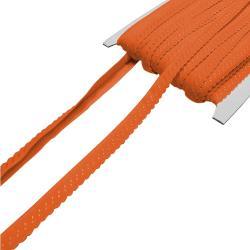 Elastisches Einfassband mit Bogenkante - orange