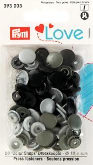 PRYM Prym Love Druckknopf Color KST 12,4 mm grau