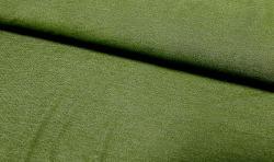 Jeans look Baumwoll Jersey Stoff - olivegrün 170cm breit