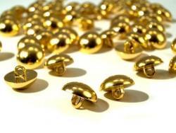 Halbkugel Knopf 15mm gold