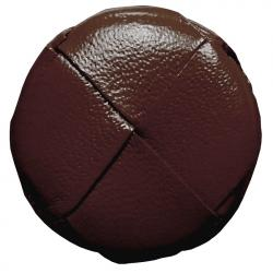 Lederknopf rund Braun 23mm echt Leder