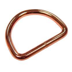 Metall D-RING für Taschengurte 40mm Kupfer