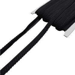 Elastisches Einfassband mit Bogenkante - schwarz