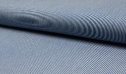 Leichter Hemden Jeans Stoff Jacquard streifen 2mm hellblau