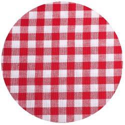 10mm Baumwollstoff große vichy Karo rot