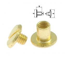 NÄHMIT - Schraubnieten / Buchschrauben Gold SPH6