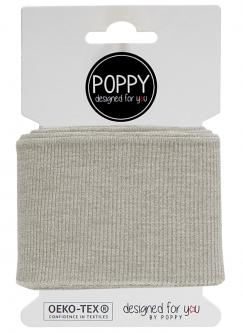 Cuff Poppy - Fertigbündchen Uni - ecrú melange