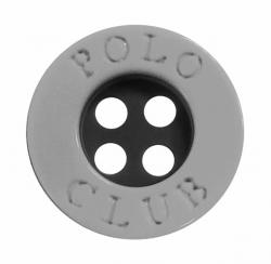 Kunststoff Polo Club Hemdenknopf hellgrau 11mm