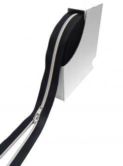 5mm SHINE YKK Polster und Taschen endlos Reißverschluss *SILBER*