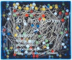 PRYM - 30g Glaskopf Stecknadeln extra lang 48 x 0,80