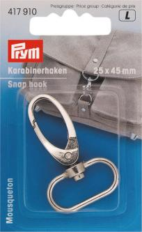 PRYM Karabinerhaken 25 mm silberfarbig