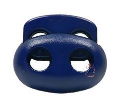 Kordelstopper Oval 2-Loch / dunkelblau