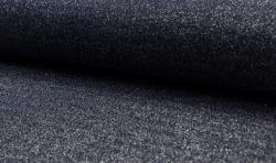 Bündchenstoff Glamour mit Lurex dunkelblau