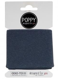 Cuff Poppy - Fertigbündchen Uni - marine melange