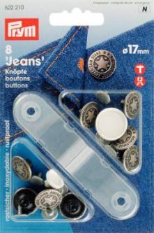 PRYM NF-Jeans-Knöpfe American Star MS 17 mm altsilber