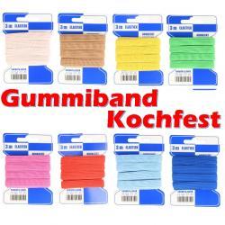 Farbiges Kochfest - Gummiband 10mm x 3m für Mundschutz Masken