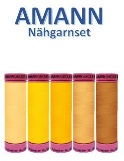 AMANN 5er Nähgarn Set Gelb Farbtöne Allesnäher