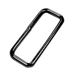 Metall Schlaufe für Taschengurte 25mm schwarz