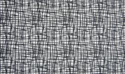 Baumwoll Jersey Stoff Druck Abstrackt - weiss schwarz