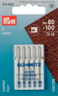 PRYM Schmetz Nähmaschinennadeln 130/705 Leder 80-100