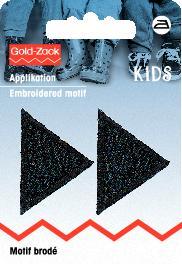 PRYM Applikation Dreiecke klein, schwarz