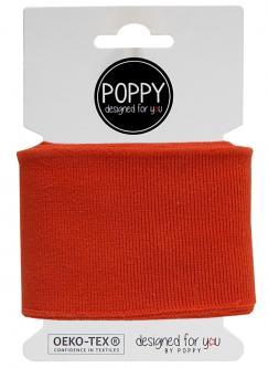 Cuff Poppy - Fertigbündchen Uni - terracotta