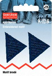 PRYM Applikation Dreiecke klein, dunkelblau