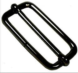 Metall Gurtversteller für Taschengurte 40mm schwarz