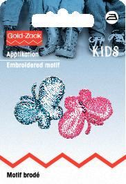 PRYM Applikation Schmetterlinge pink/blau
