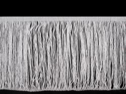 Fransen Borte 20cm lang weiss