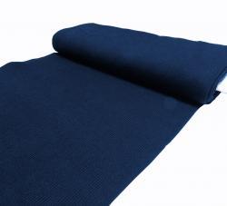 Grobstrick Jersey Bündchen Stoff für Lederjacken - dunkelblau