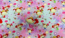 Baumwoll Jersey Stoff Digital Druck kleine Prinzessin
