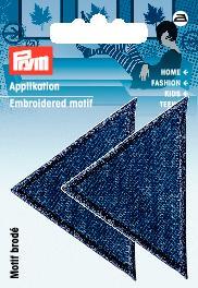 PRYM Applikation Dreiecke groß Jeans dunkel