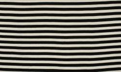 Polo Viscose Jersey Stoff - Black & White Streifen