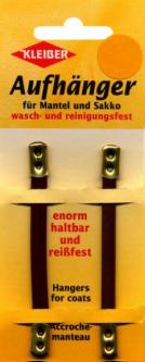 2 Kleiber Mantelaufhänger Kunstleder braun