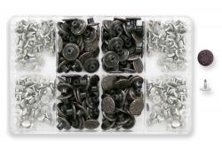 100 Jeansknöpfe 17mm altkupfer