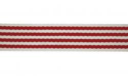 Baumwoll Polyester Taschengurt Gurtband 40mm gestreift rot-weiss