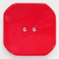 Modeknopf rechteckig gewölbt 30mm rot