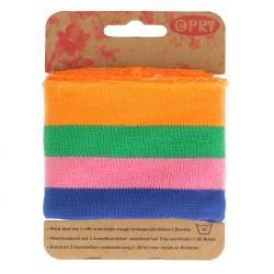 Cuff Opry - Fertigbündchen Streifen multicolor 100cm