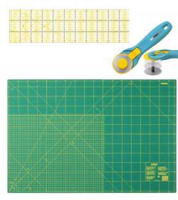OLFA SUPER Patchwork Set mit 60x90cm Schneidematte