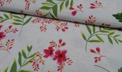 Bedruckter Baumwoll Canvas Meterware Stoff Blumenmuster