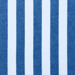 Baumwoll Jeans Stoff breit gestreift dunkelblau