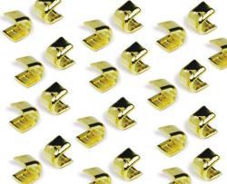 Reißverschluss Stopper *GOLD* oben 05M / 100St.