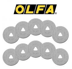 OLFA 10 Ersatzklingen für Rollschneider 45mm